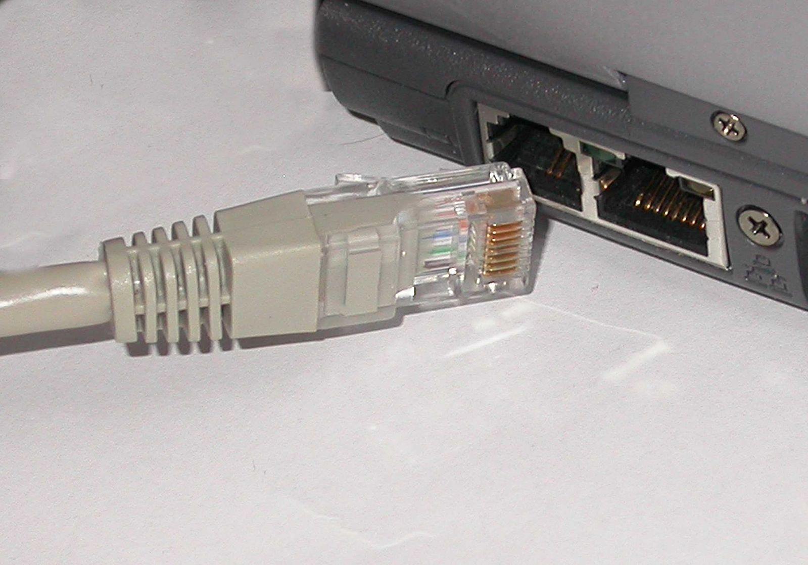 RJ45-Stecker Laptop